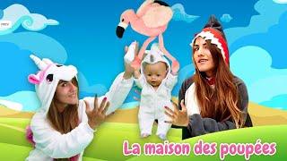 Vidéo drôle. Famille des licornes. Baby born licorne chez le requin.