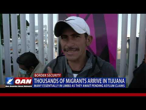 More Migrants Arrive at the San Diego - Mexico Border