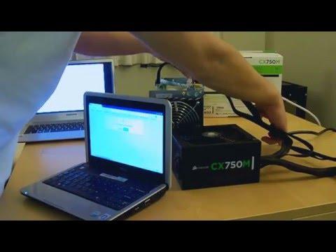 Antminer S1  Bitcoin Miner  Setup