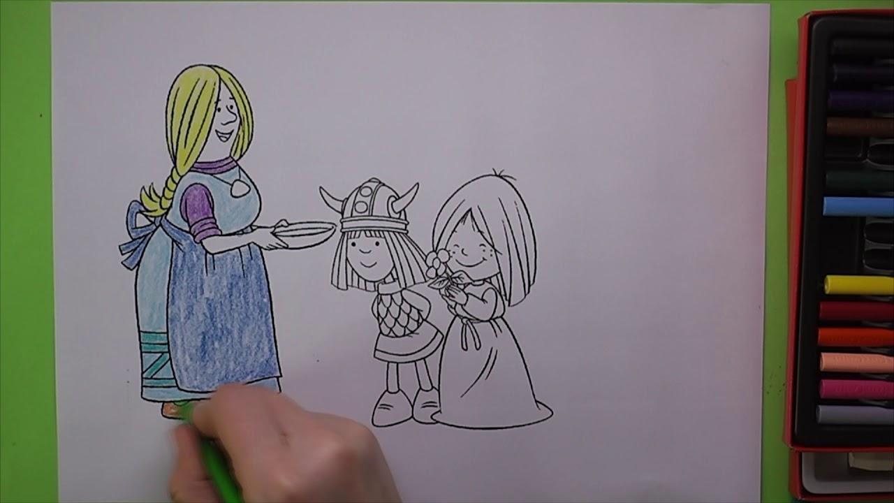 Vicky The Viking Boyama Vicky The Viking Nasil Boyanir Coloring