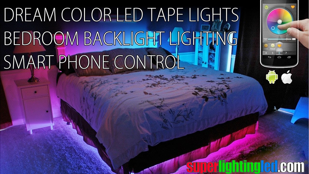 Smart Control Dream Color Led Tape Lights For Bedroom Bedside Backlight Lighting Decorative