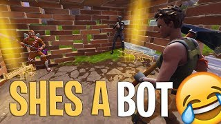 Nous avons trouvé un BOT sur Fortnite (The WORST Player Ever)