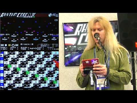 Rhythm Core Alpha 2  Nintendo DSi & 3DS Synthesizer & Sequencer  Demo at LA Mini Maker Faire