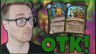 ICKY OTK (This Combo is so SICK 🤢) | Leper Gnome OTK Hunter | Descent of Dragons | Wild Hearthstone