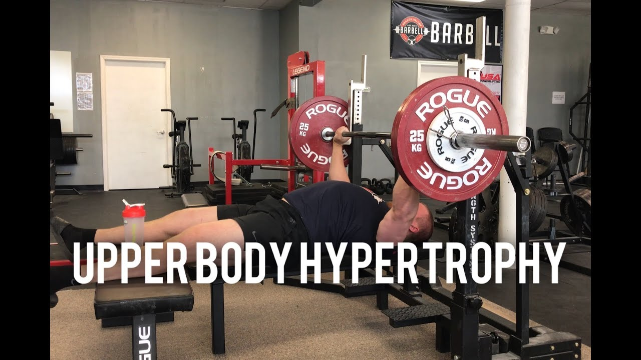 Upper Body Hypertrophy for Powerlifting