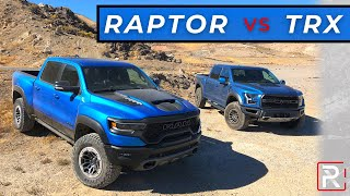 2021 Ram TRX vs 2020 Ford Raptor – Who Makes The Best Off-Road Ready Truck?