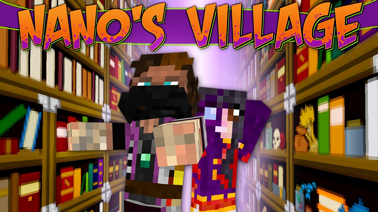 Minecraft Nano39s Village 45 Book Shelves Youtube