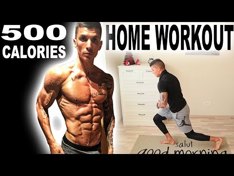 500 CALORIES HOME WORKOUT(NO EQUIPMENT)
