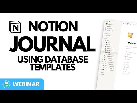Create A Basic Journal With Database Templates