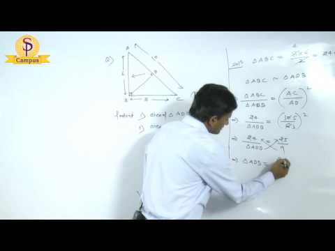 Maths by S P  Pandey Sir Geometry Right angle triangle   Part  V