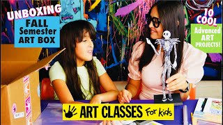 Unboxing Advanced FALL Semester ART BOX! Art Classes For Kids