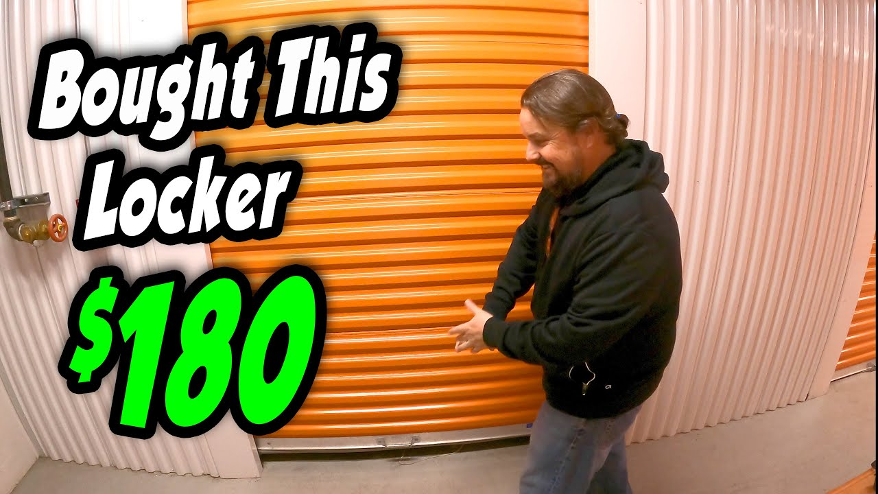 IT'S OUR ANNIVERSARY, and I bought this locker for $180 at an online abandoned storage auction