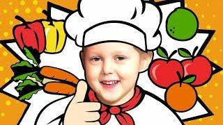 Изучаем Английский с Амелькой Learn Fruits and Vegetables Готовим суп Фрукты и Овощи Learn English