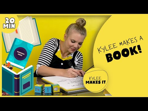 Kylee Makes a Book   Art Video for Kids! Learn to Write & Illustrate a Story and Build & Bind a Book