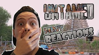 UNTAMED FIRST REACTIONS!! **NEW RMC ROLLERCOASTER**