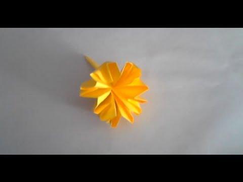 Fleur origami carnation flower youtube - Youtube origami fleur ...