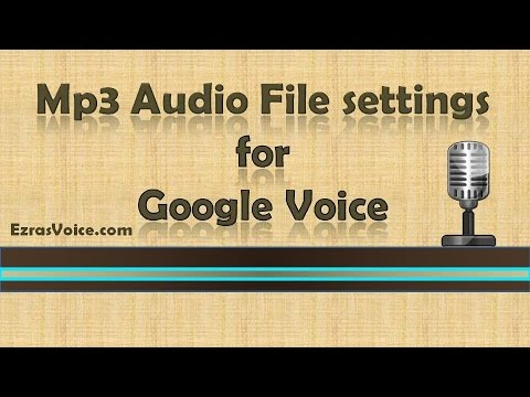 How to format an mp3 to use on Google VOIP Phone Voicemail, Google Voice VOIP Phone, VOIP Google
