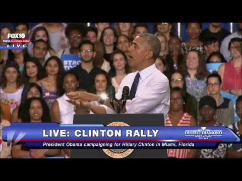 FNN: President Obama Campaigns For Hillary Clinton - Miami, Florida - 11/3/16