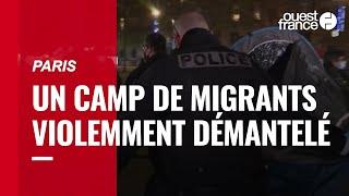 Paris. Un camp de migrants violemment démantelé