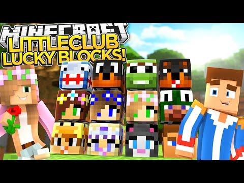 LITTLE DONNY DRESSES LIKE LITTLE KELLY -YOUTUBER LUCKY BLOCK RACE!!! - Minecraft Roleplay.
