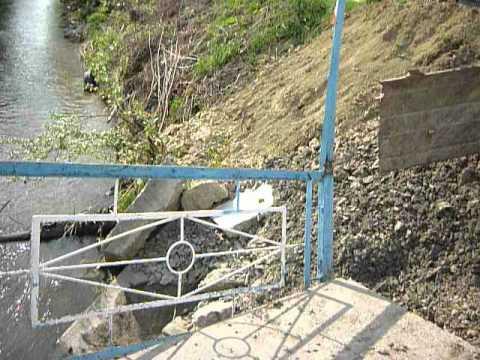 Разрушенный мост в Балтае Саратовская область