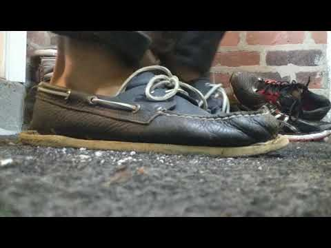 46a62696f Sperry TopSiders Boat Shoes Sole Removal and Timberland Boots Modifications