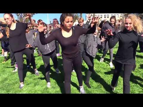 "Sunny Brae Middle School dances ""Thriller"""