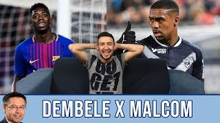 Dembélé x Malcom skills reaction! Can they play together or will they become rivals?