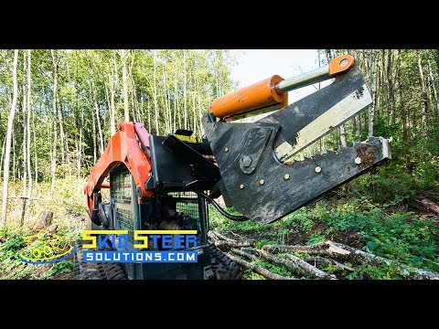 Timberline Rotating Skid Steer Tree Shear Raw Demonstration | Skid Steer Solutions