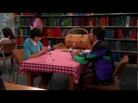 The Big Bang Theory S06E18 - Raj on a date with Lucy at the library!