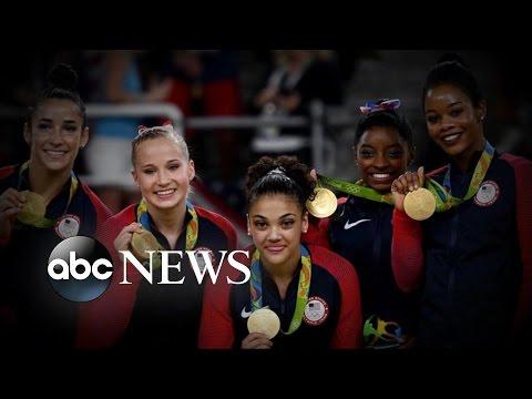 Olympics   US Women's Gymnastics Team Wins Gold