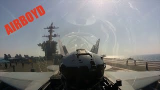 F/A-18 And EA-18 Takeoffs - Cockpit View