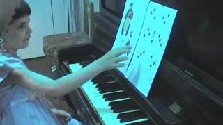 Урок игры на фортепиано ч.1
