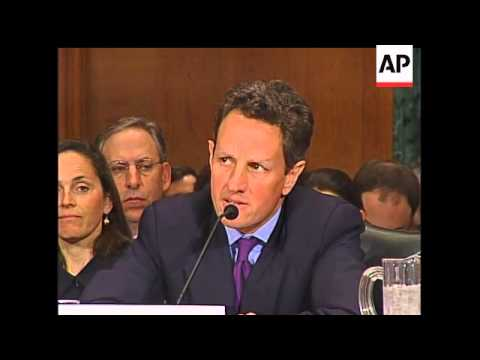 At his confirmation hearing Wednesday, Treasury Secretary-designate Tim Geithner apologized to Congr