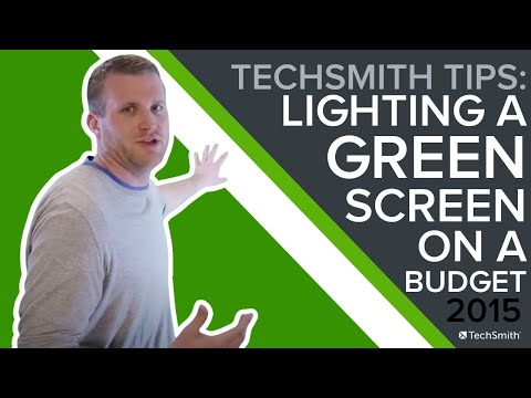 How to Light a Green Screen on a Budget - TechSmith Tips
