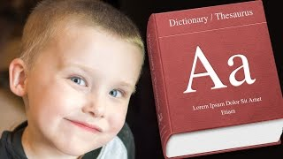 Kid Studying for the SAT - Jacob's First Vocabulary Test - 4 Years Old