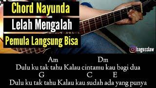 Kunci gitar lelah mengalah original song by nayunda