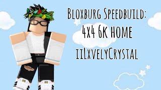 Roblox Bloxburg: Speedbuild 6k 4x4 budget home || No Gamepass || iiLxvelyCrystal