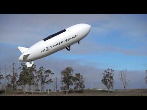 Mothership Aeronautics solar powered blimp drone.