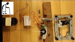 Things you can make from an old DVD drive #2 - Step a stepper motor
