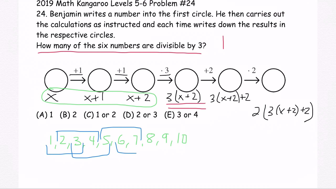 2019 Math Kangaroo Levels 5-6 Problem #24 - YouTube