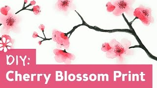 How to Paint Cherry Blossoms | Sea Lemon