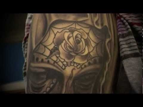 9f32e36b864e0 Day of The Dead Virgin Mary tattoo - YouTube
