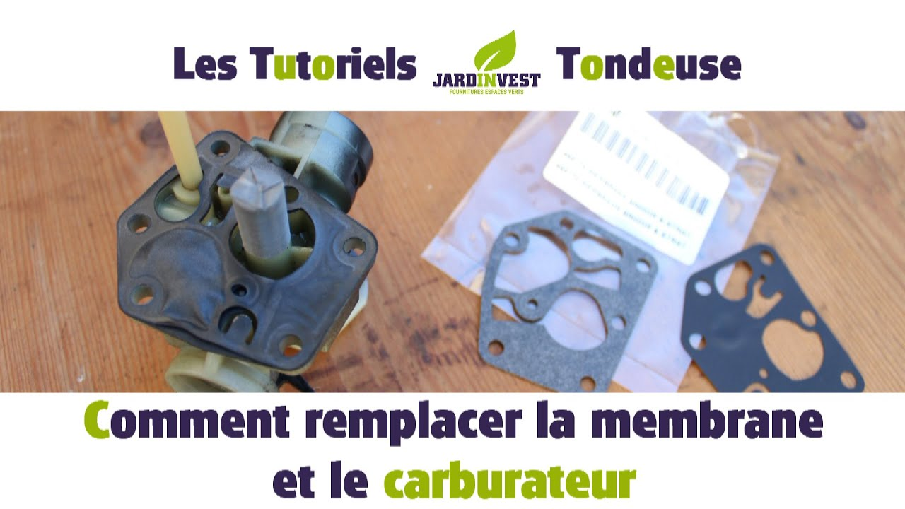 tutoriel tondeuse n 9 comment remplacer la membrane et le carburateur de votre tondeuse a. Black Bedroom Furniture Sets. Home Design Ideas