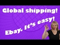 How to sell with Global Shipping for Ebay resellers. Ebay, it's easy. Beginners.
