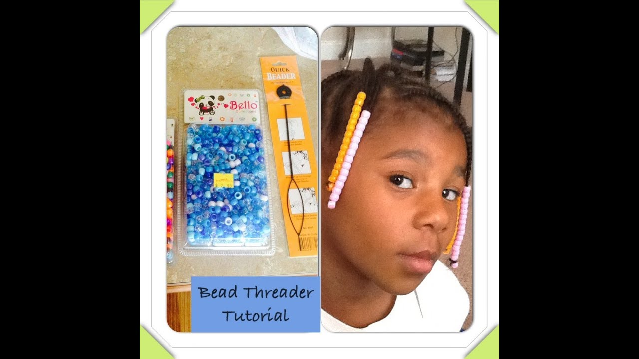 How to apply beads to braids using a bead threader youtube ccuart Gallery