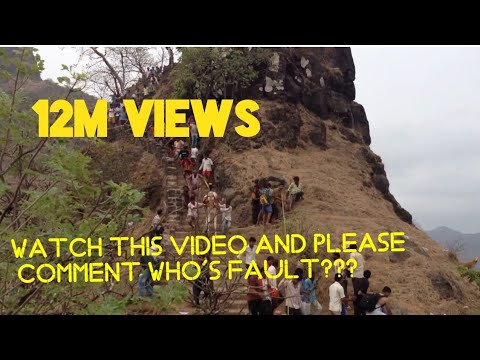 Raigad incident-Horse fell down from रायगड Fort