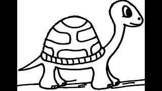 draw coloring turtle easy pages cartoon drawing steps learning printable getdrawings getcolorings