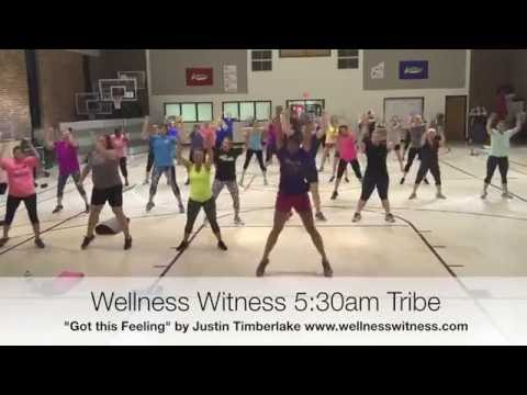 """Can't Stop the Feeling"" Kickboxing Routine from Wellness Witness 5:30 a.m. TRIBE"