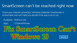 How to Fix 'Windows Smartscreen can't be reached' in Windows 10